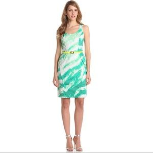 Vince Camuto Structured Sheath Dress Feline green